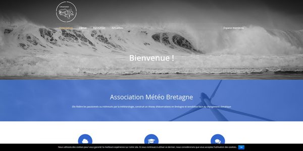 Association Météo Bretagne réalsiation de La Coquille Web